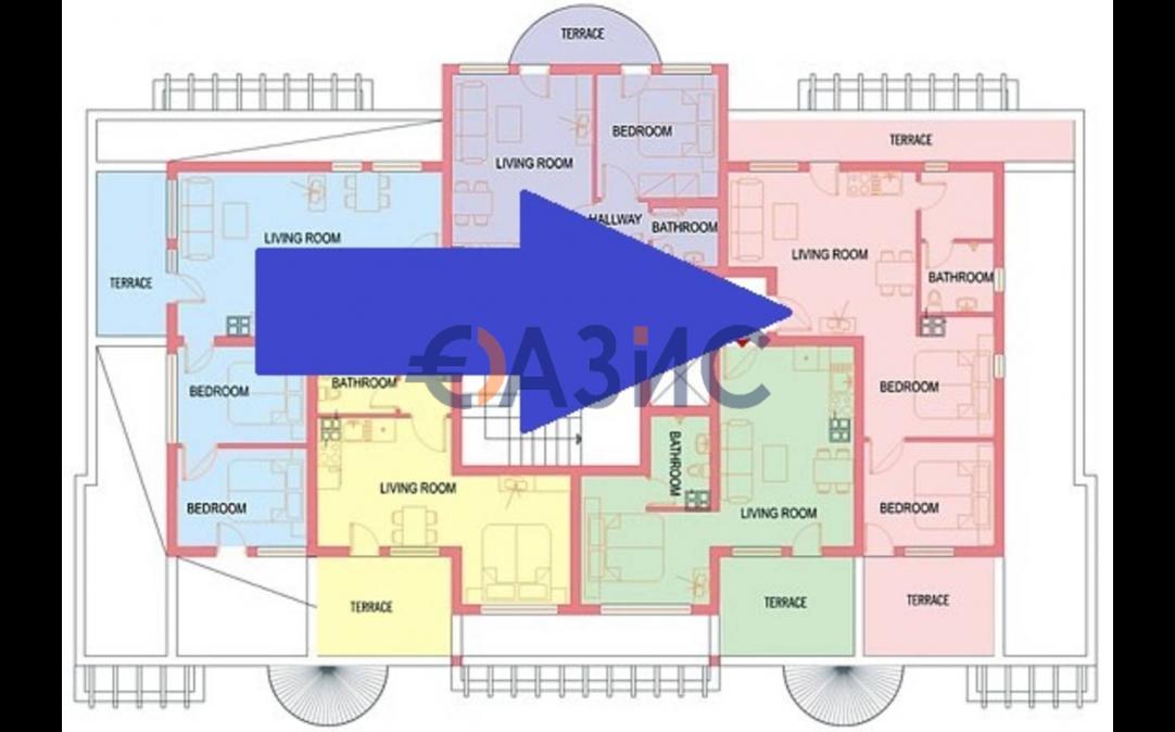 3х комнатные апартаменты в Святом Власе (Болгария) за 69800 евро