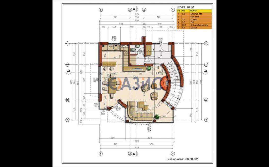 3-етажна къща в Свети Влас (България) за 300000 евро
