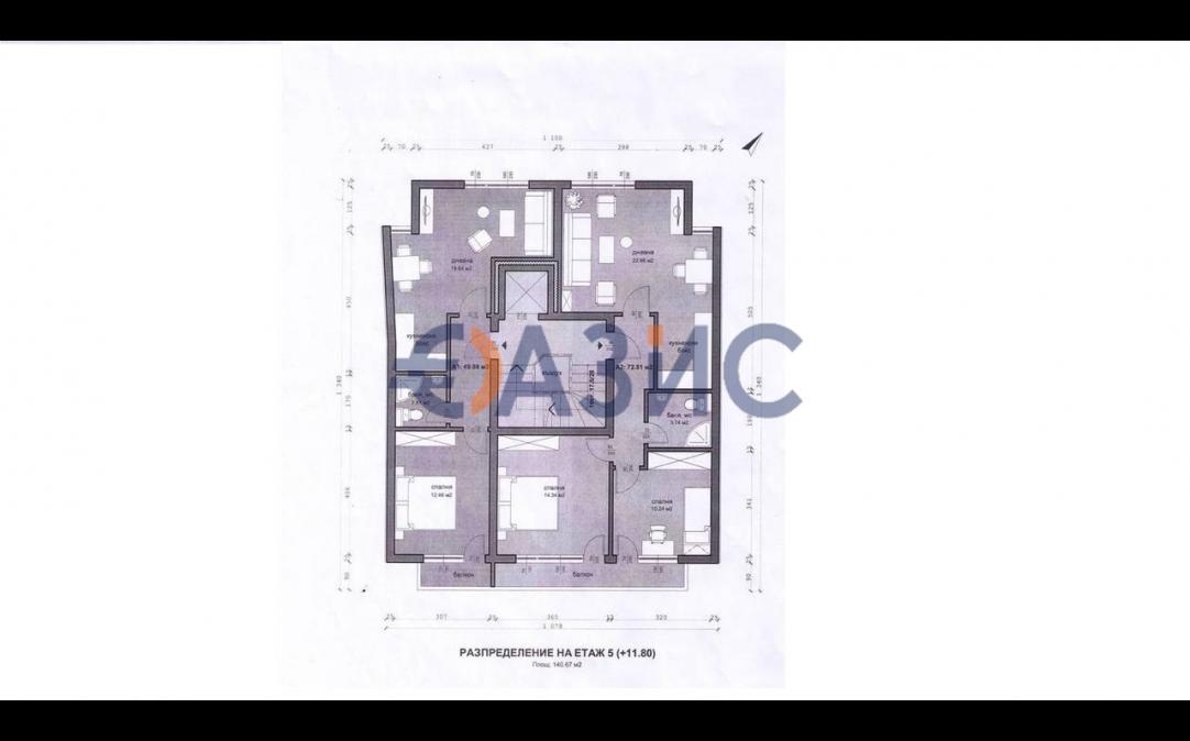 4х комнатные апартаменты в Бургасе (Болгария) за 197225 евро