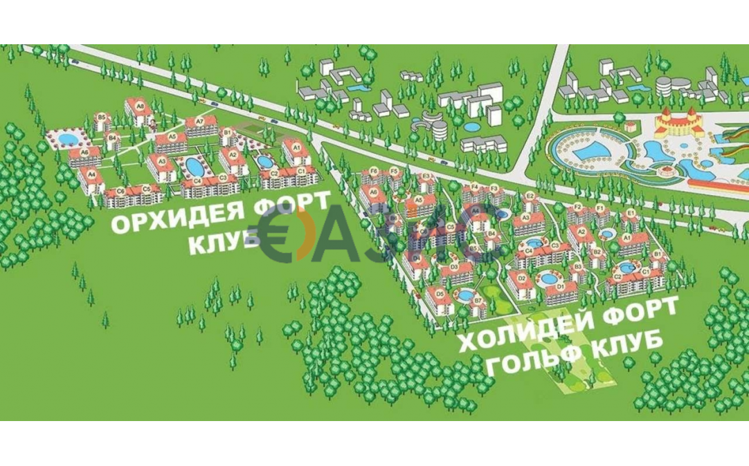 3-стайни апртаменти в Слънчев бряг (България) за 38000 евро