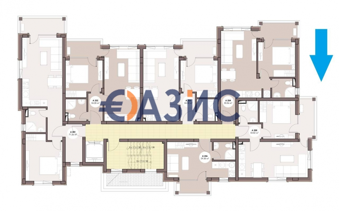 Студио в Равде (България) за 45225 евро