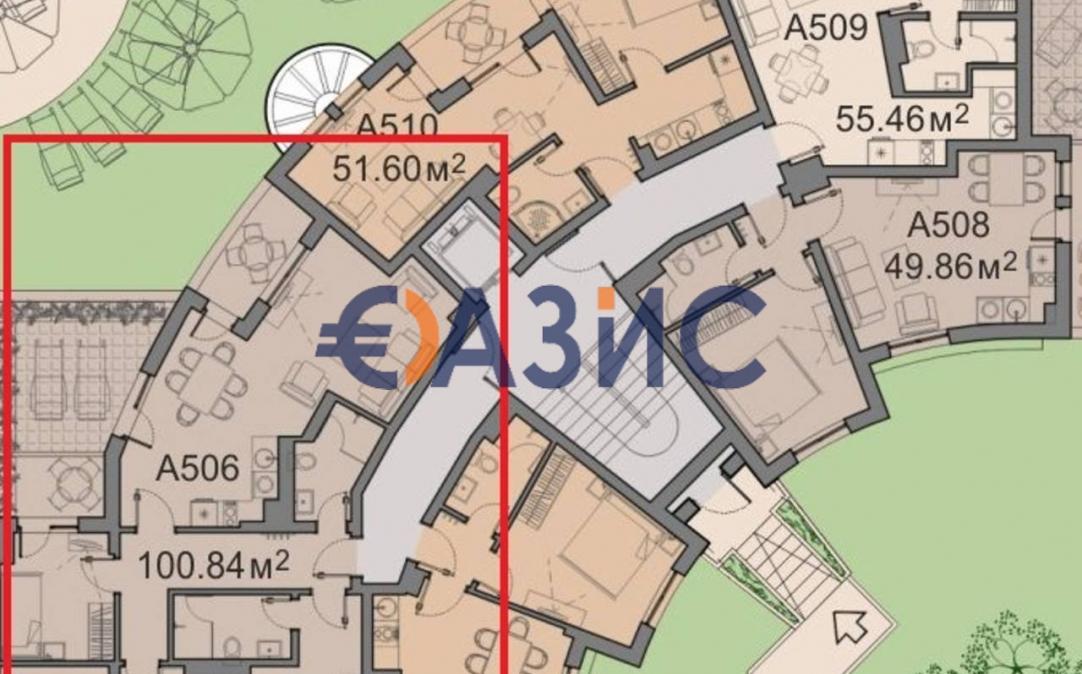 4-стайни апртаменти в Слънчев бряг (България) за 104692 евро