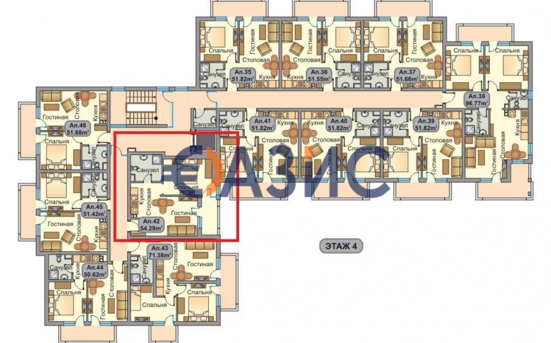 Студия в Солнечном Берегу (Болгария) за 29860 евро