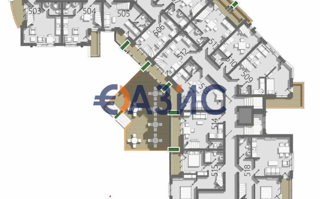 3-стайни апртаменти в Слънчев бряг (България) за 65736 евро