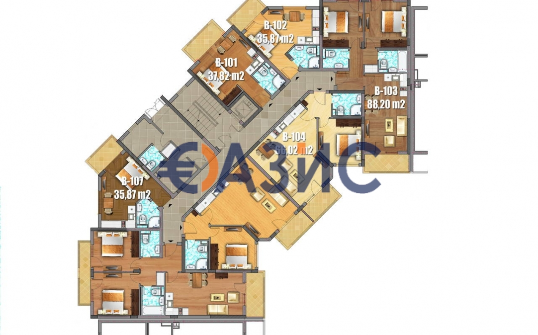 Студия в Святом Власе (Болгария) за 35870 евро